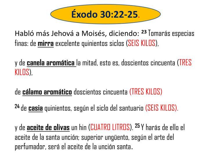 Éxodo 30:22-25