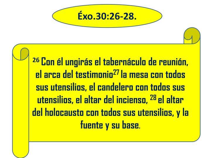Éxo.30:26-28.