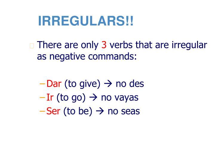 IRREGULARS!!
