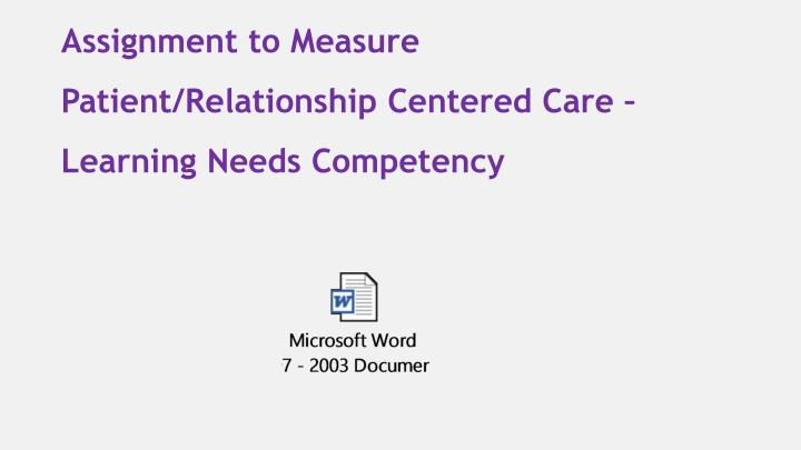 patient relationship centered care