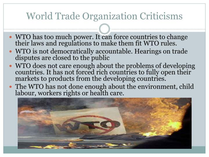 World Trade Organization Criticisms