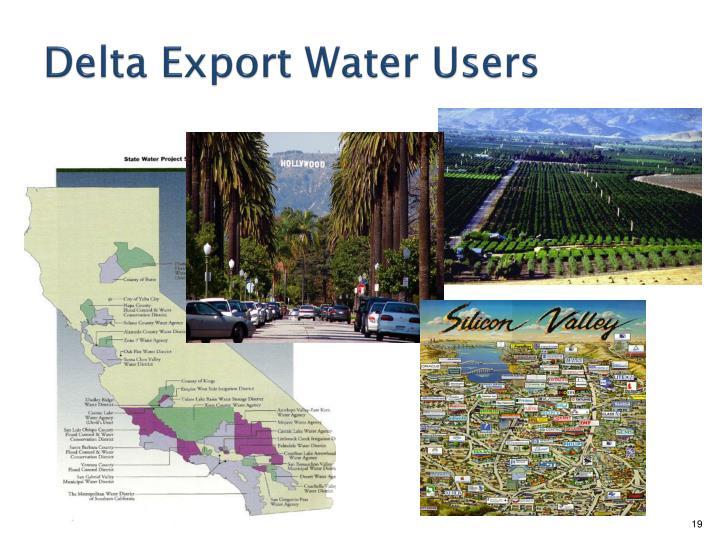 Delta Export Water Users