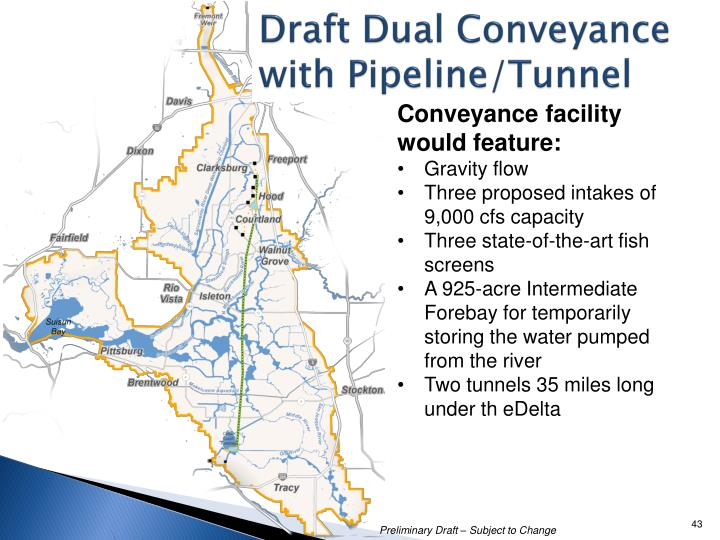 Draft Dual Conveyance with Pipeline/Tunnel