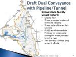 draft dual conveyance with pipeline tunnel