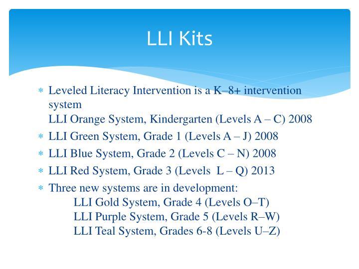 LLI Kits