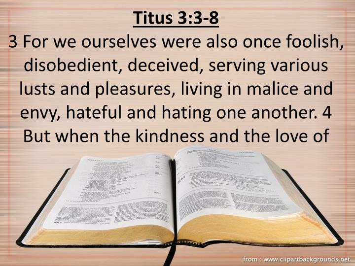Titus 3:3-8