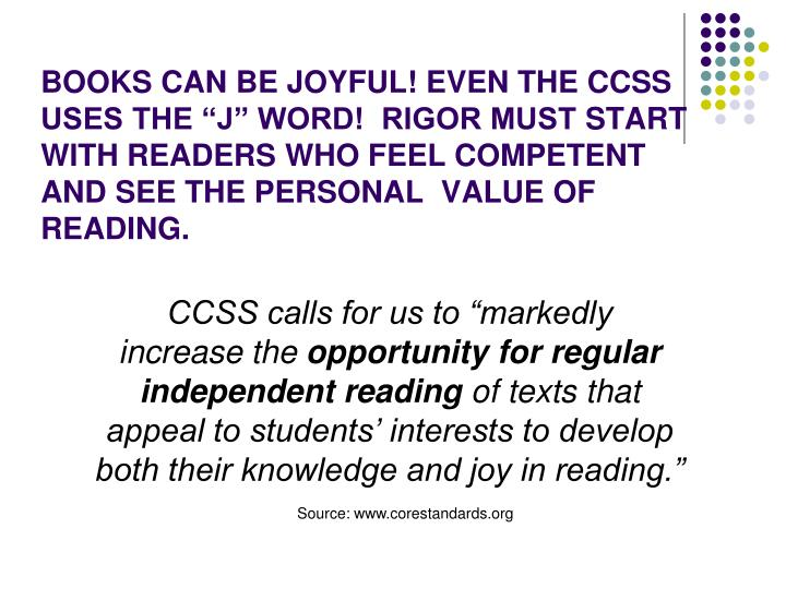 """CCSS calls for us to """"markedly"""