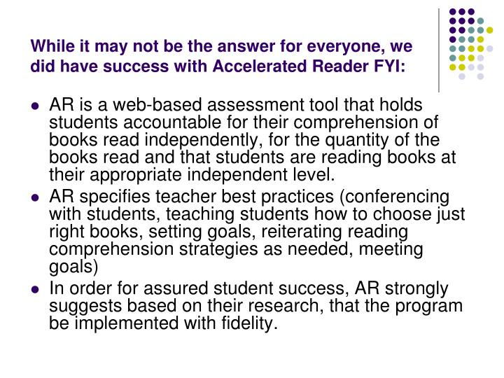 While it may not be the answer for everyone, we did have success with Accelerated Reader FYI: