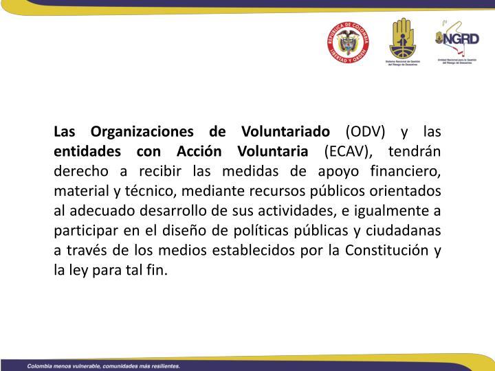 Las Organizaciones de Voluntariado