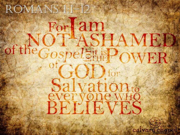 Romans 1:1-12