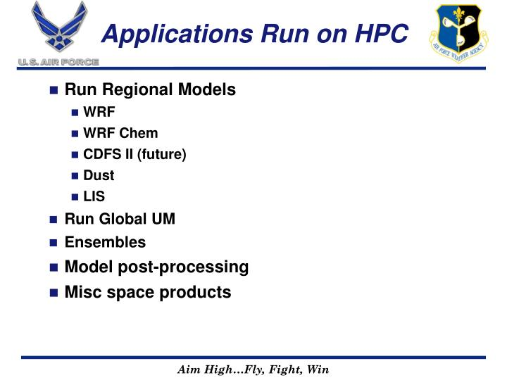 Applications Run on HPC