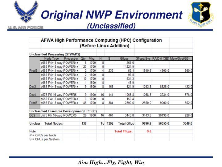 Original NWP Environment