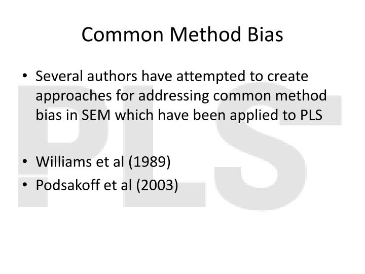 Common Method Bias