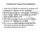 construct level correlations