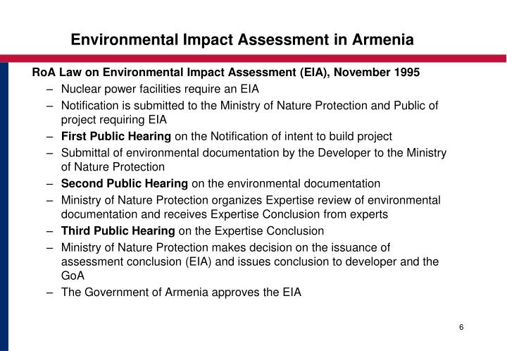 Environmental Impact Assessment in Armenia