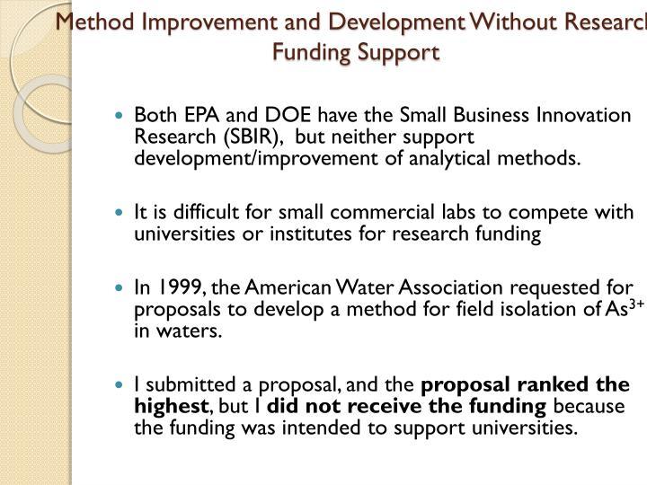 Method Improvement and Development