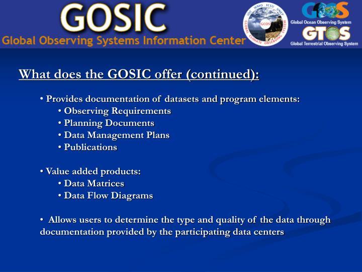 Provides documentation of datasets and program elements: