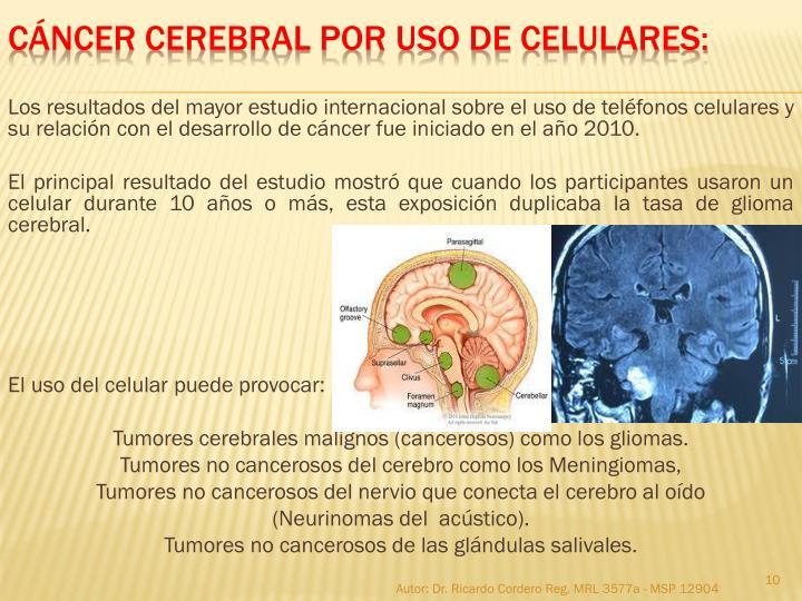 Los resultados del mayor estudio internacional sobre el uso de teléfonos celulares y su relación con el desarrollo de cáncer fue iniciado en el año 2010.