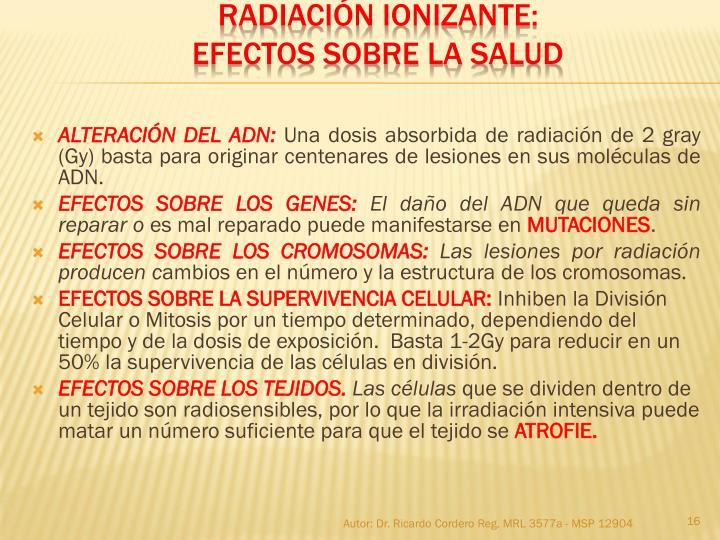 ALTERACIÓN DEL ADN: