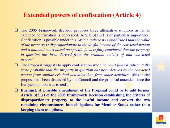 Extended powers of confiscation (Article 4)
