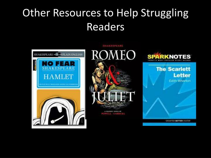 Other Resources to Help Struggling Readers