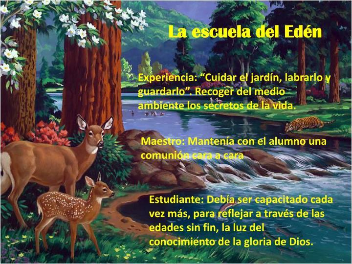 La escuela del Edén