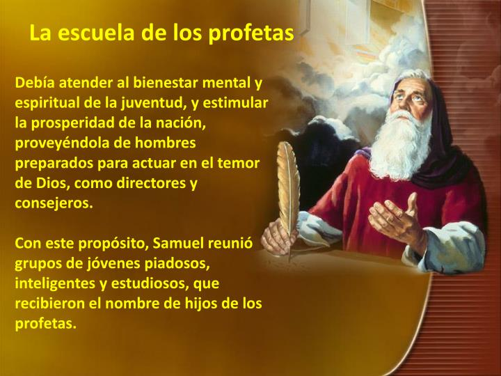 La escuela de los profetas