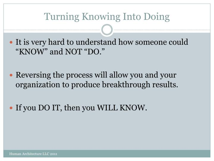 Turning Knowing