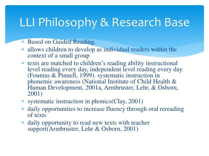 philosophy of literacy Information literacy & library instruction teaching philosophy information literacy & library instruction: teaching for information literacy for.