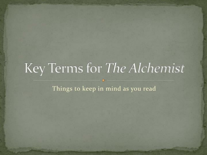 Key Terms for