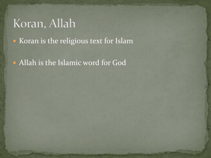 Koran, Allah