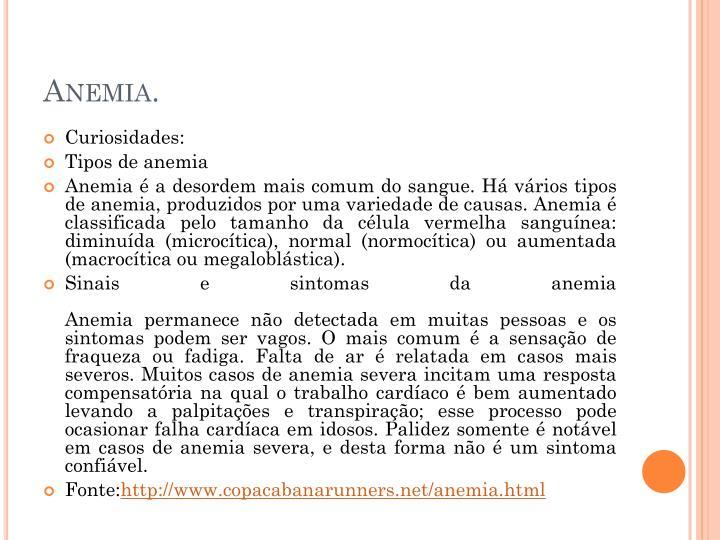 Anemia.