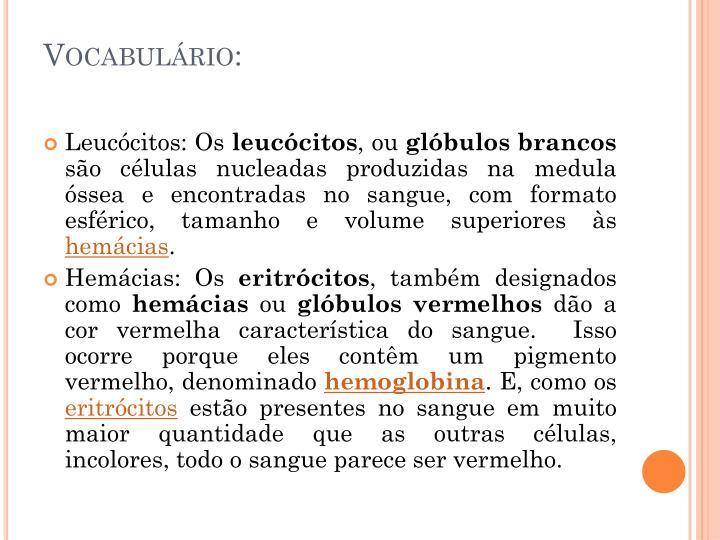 Vocabulário: