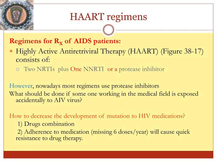 HAART regimens