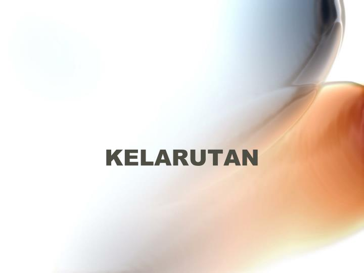 KELARUTAN