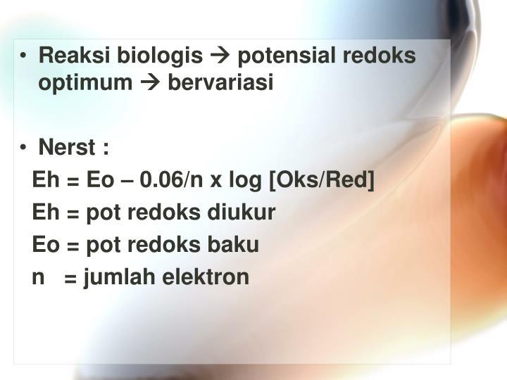Reaksi biologis