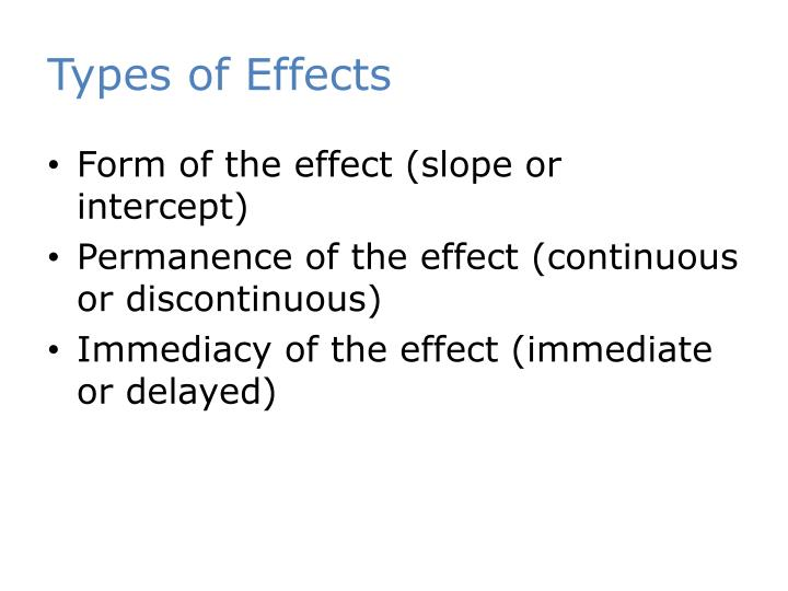 Types of Effects