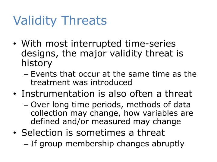 Validity Threats