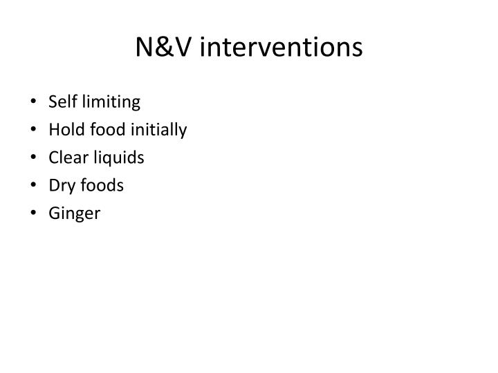 N&V interventions