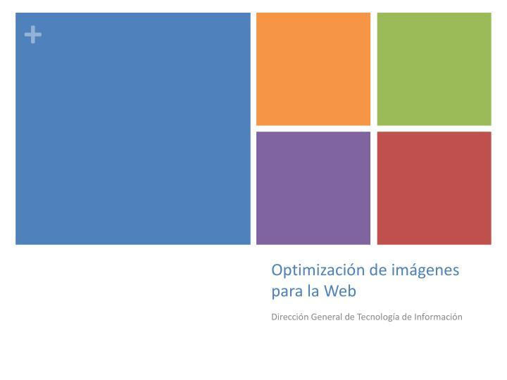Optimización de imágenes para la Web