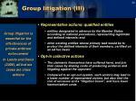 group litigation iii