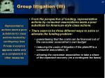 group litigation iii1