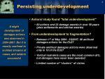 persisting underdevelopment