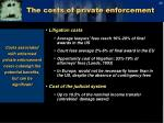 the costs of private enforcement