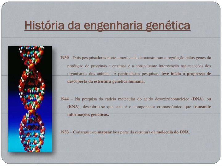 História da engenharia genética