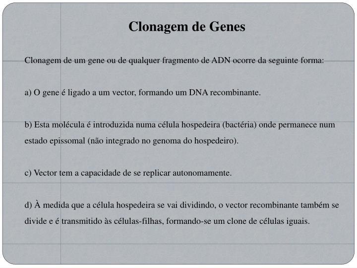 Clonagem de Genes
