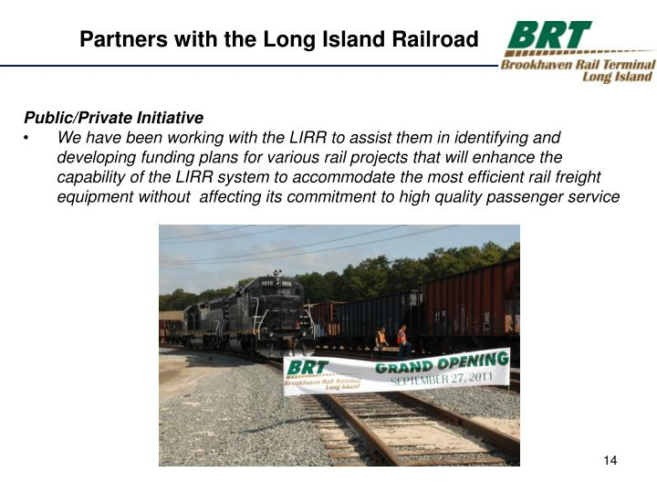 Partners with the Long Island Railroad
