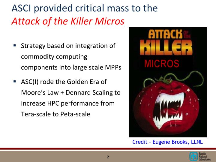 ASCI provided critical mass to the