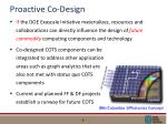 proactive co design
