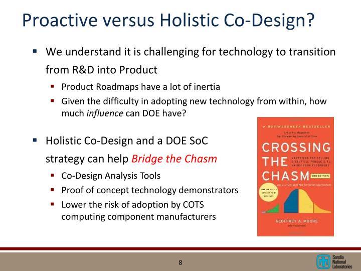 Proactive versus Holistic Co-Design?